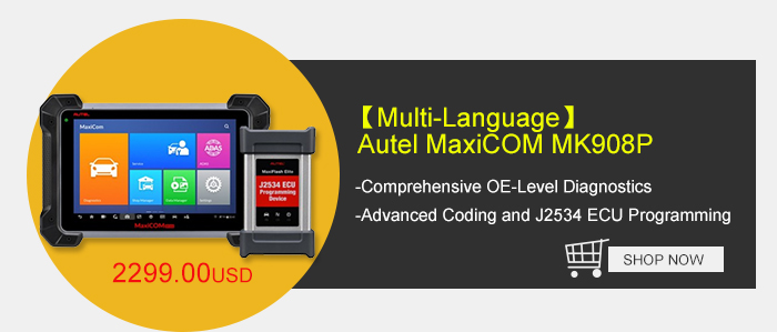 New Autel MaxiCOM MK908P Full System Diagnostic Tool Support ECU Coding, J2534 ECU Programming, Bi-directional Control, Complete Systems Diagnoses