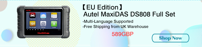 【EU Edition】Original Autel MaxiDAS DS808 Tablet Diagnostic Tool Full Set
