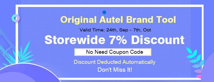 Original Autel Brand Tool, Storewide 7% Discount, No Need Coupon Code, Discount Deducted Automatically